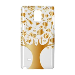 Abstract Book Floral Food Icons Samsung Galaxy Note 4 Hardshell Case
