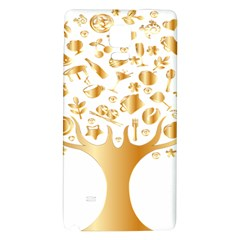 Abstract Book Floral Food Icons Galaxy Note 4 Back Case