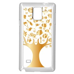 Abstract Book Floral Food Icons Samsung Galaxy Note 4 Case (white)