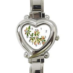 Apple Branch Deciduous Fruit Heart Italian Charm Watch