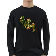 Apple Branch Deciduous Fruit Long Sleeve Dark T Shirts