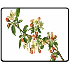 Apple Branch Deciduous Fruit Fleece Blanket (medium)