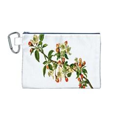 Apple Branch Deciduous Fruit Canvas Cosmetic Bag (m)
