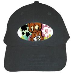 Bear Cute Baby Cartoon Chinese Black Cap