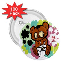 Bear Cute Baby Cartoon Chinese 2 25  Buttons (100 Pack)