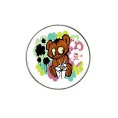 Bear Cute Baby Cartoon Chinese Hat Clip Ball Marker