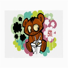 Bear Cute Baby Cartoon Chinese Small Glasses Cloth (2 Side)