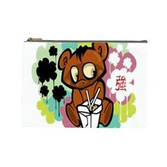 Bear Cute Baby Cartoon Chinese Cosmetic Bag (large)