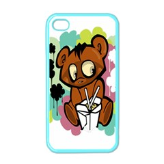 Bear Cute Baby Cartoon Chinese Apple Iphone 4 Case (color)