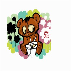 Bear Cute Baby Cartoon Chinese Large Garden Flag (two Sides)