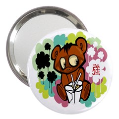 Bear Cute Baby Cartoon Chinese 3  Handbag Mirrors