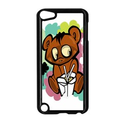 Bear Cute Baby Cartoon Chinese Apple Ipod Touch 5 Case (black)