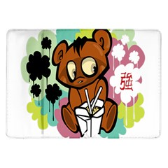 Bear Cute Baby Cartoon Chinese Samsung Galaxy Tab 10 1  P7500 Flip Case