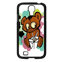Bear Cute Baby Cartoon Chinese Samsung Galaxy S4 I9500/ I9505 Case (black)