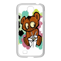 Bear Cute Baby Cartoon Chinese Samsung Galaxy S4 I9500/ I9505 Case (white)