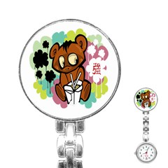 Bear Cute Baby Cartoon Chinese Stainless Steel Nurses Watch