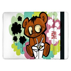 Bear Cute Baby Cartoon Chinese Samsung Galaxy Tab Pro 12 2  Flip Case