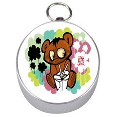 Bear Cute Baby Cartoon Chinese Silver Compasses
