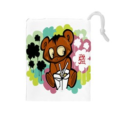 Bear Cute Baby Cartoon Chinese Drawstring Pouches (large)