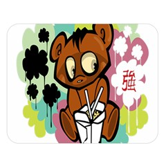 Bear Cute Baby Cartoon Chinese Double Sided Flano Blanket (large)