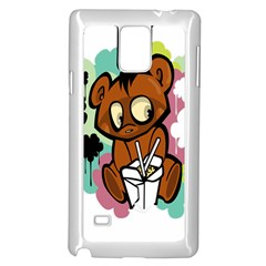 Bear Cute Baby Cartoon Chinese Samsung Galaxy Note 4 Case (white)