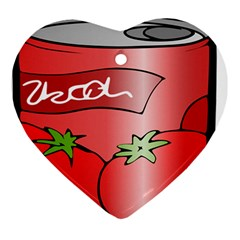 Beverage Can Drink Juice Tomato Ornament (heart)
