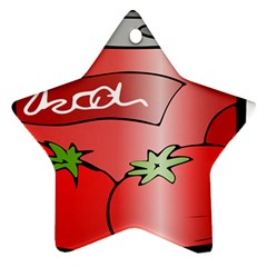 Beverage Can Drink Juice Tomato Ornament (star)