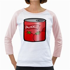 Beverage Can Drink Juice Tomato Girly Raglans