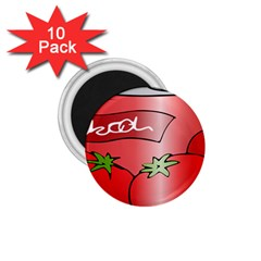 Beverage Can Drink Juice Tomato 1 75  Magnets (10 Pack)