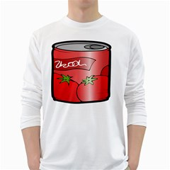 Beverage Can Drink Juice Tomato White Long Sleeve T Shirts