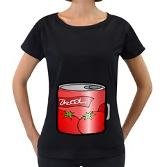 Beverage Can Drink Juice Tomato Women s Loose Fit T Shirt (black)
