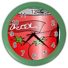 Beverage Can Drink Juice Tomato Color Wall Clocks