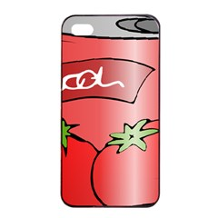 Beverage Can Drink Juice Tomato Apple Iphone 4/4s Seamless Case (black)