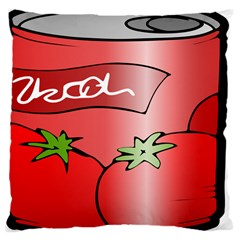 Beverage Can Drink Juice Tomato Large Cushion Case (two Sides)
