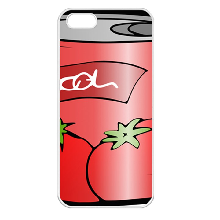 Beverage Can Drink Juice Tomato Apple iPhone 5 Seamless Case (White)