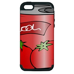 Beverage Can Drink Juice Tomato Apple Iphone 5 Hardshell Case (pc+silicone)