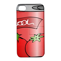 Beverage Can Drink Juice Tomato Apple Iphone 4/4s Hardshell Case With Stand