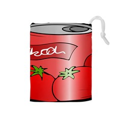 Beverage Can Drink Juice Tomato Drawstring Pouches (medium)
