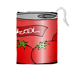 Beverage Can Drink Juice Tomato Drawstring Pouches (large)