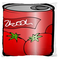 Beverage Can Drink Juice Tomato Large Flano Cushion Case (one Side)