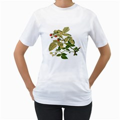 Berries Berry Food Fruit Herbal Women s T Shirt (white) (two Sided)