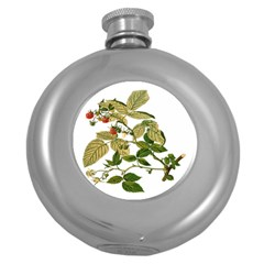 Berries Berry Food Fruit Herbal Round Hip Flask (5 Oz)