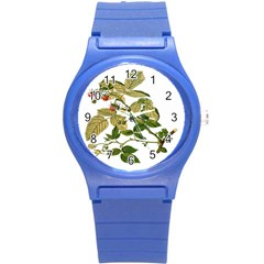 Berries Berry Food Fruit Herbal Round Plastic Sport Watch (s)