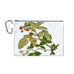 Berries Berry Food Fruit Herbal Canvas Cosmetic Bag (m)
