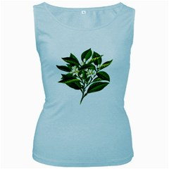 Bitter Branch Citrus Edible Floral Women s Baby Blue Tank Top