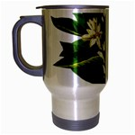 Bitter Branch Citrus Edible Floral Travel Mug (Silver Gray) Left