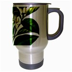 Bitter Branch Citrus Edible Floral Travel Mug (Silver Gray) Right