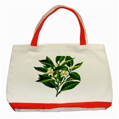 Bitter Branch Citrus Edible Floral Classic Tote Bag (red)
