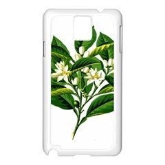 Bitter Branch Citrus Edible Floral Samsung Galaxy Note 3 N9005 Case (white)