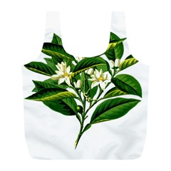 Bitter Branch Citrus Edible Floral Full Print Recycle Bags (l)